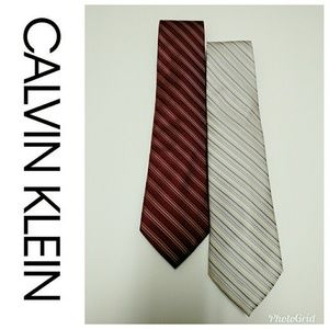 Calvin Klein All Silk Designer Tie Bundle-2👔